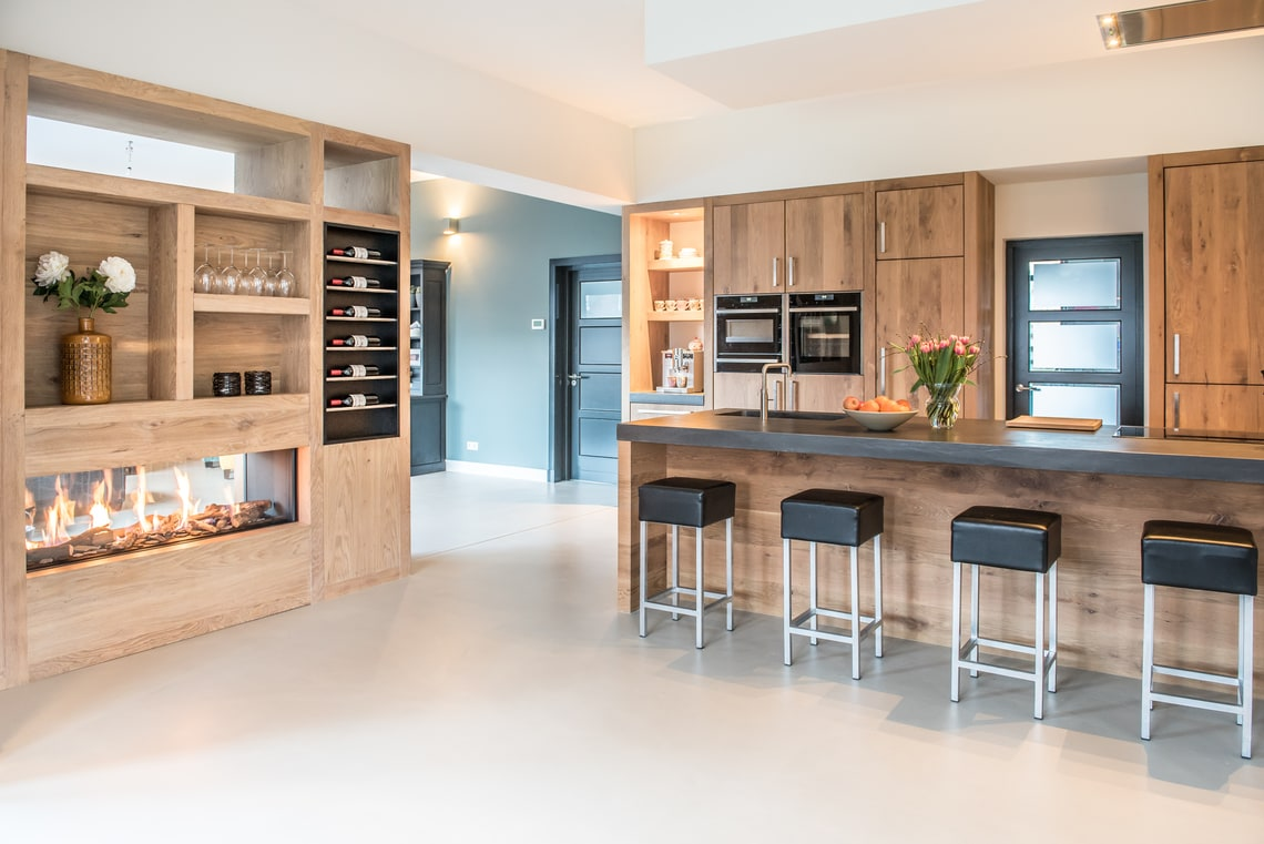 Wonderbaar Licht eiken keuken met kookeiland - NB Interieurwerken SY-18