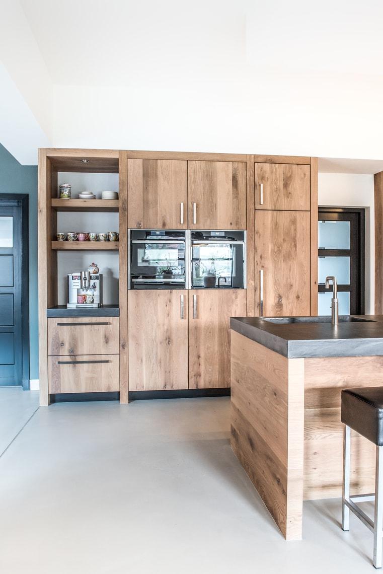 Ongekend Licht eiken keuken met kookeiland - NB Interieurwerken JK-05