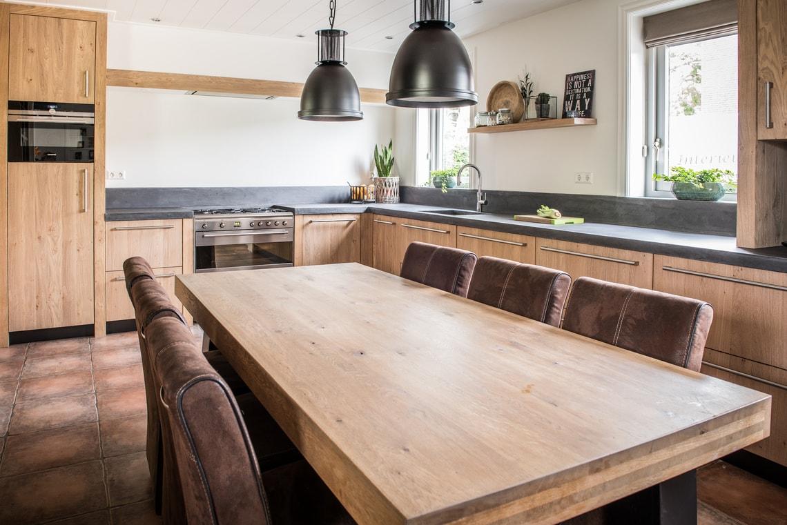 Wonderbaar Licht eiken keuken Warmenhuizen - NB Interieurwerken DY-78