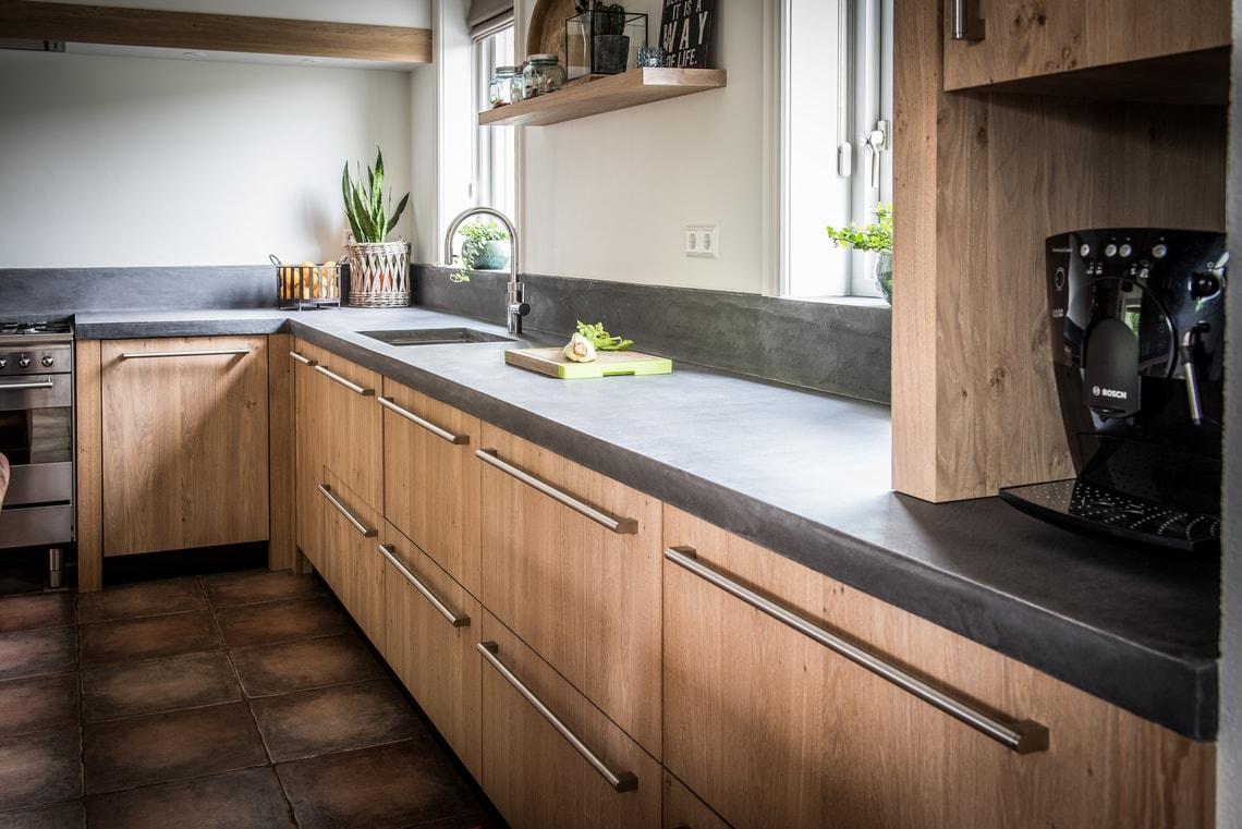 Wonderbaar Licht eiken keuken Warmenhuizen - NB Interieurwerken BF-27